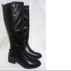 New Black Riding Boots Knee High